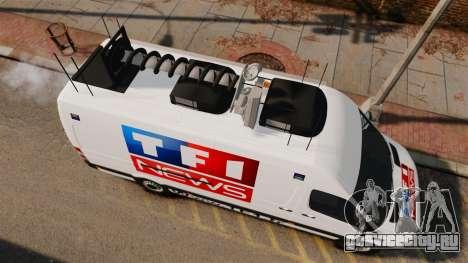 Mercedes-Benz Sprinter TF1 News [ELS] для GTA 4 вид справа
