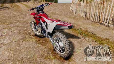 Kawasaki KX250F (Honda CRF450) для GTA 4 вид справа