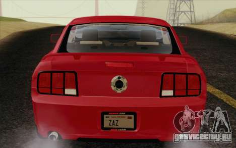 Ford Mustang GT 2005 для GTA San Andreas вид изнутри