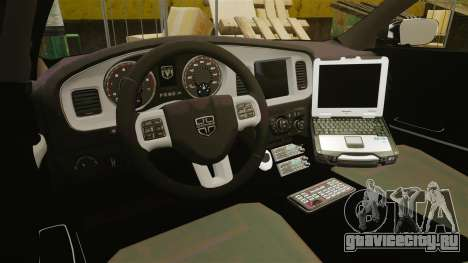Dodge Charger 2013 Patrol Supervisor [ELS] для GTA 4 вид сзади