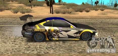 Nissan Silvia S15 Drift Industry для GTA San Andreas вид сзади слева