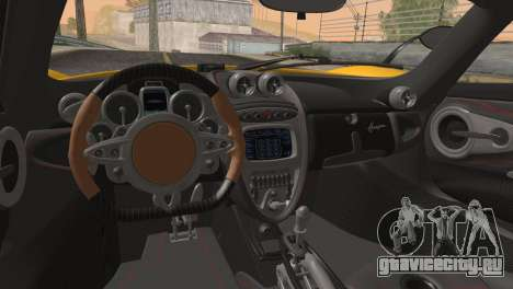 Pagani Huayra для GTA San Andreas вид сбоку