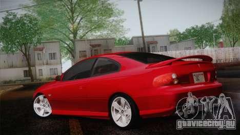 Pontiac GTO 2005 для GTA San Andreas вид слева