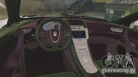 GTA Spano для GTA 4 вид изнутри