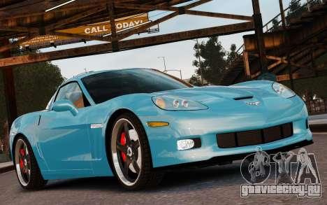 Chevrolet Corvette Grand Sport 2010 для GTA 4 вид сверху