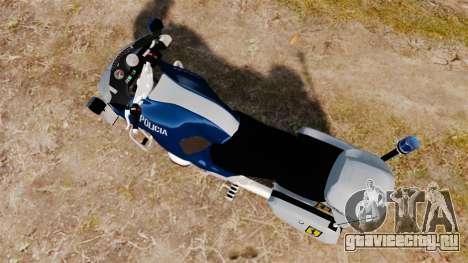 BMW R1150RT Portuguese Police [ELS] для GTA 4 вид сзади слева