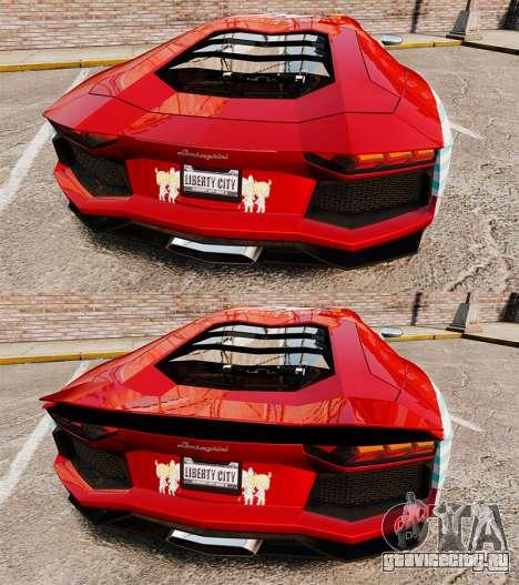 Lamborghini Aventador LP700-4 2012 [EPM] Miku 2 для GTA 4 вид снизу
