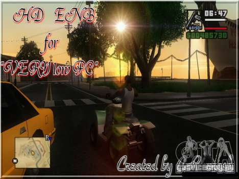 HD ENB for very low PC для GTA San Andreas