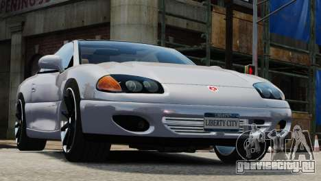 Dodge Stealth Turbo RT 1996 для GTA 4 вид сзади