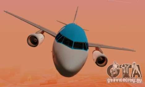 Airbus A319 KLM для GTA San Andreas вид снизу