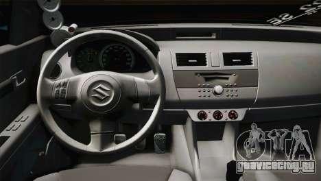 Suzuki Swift Hellaflush для GTA San Andreas вид изнутри