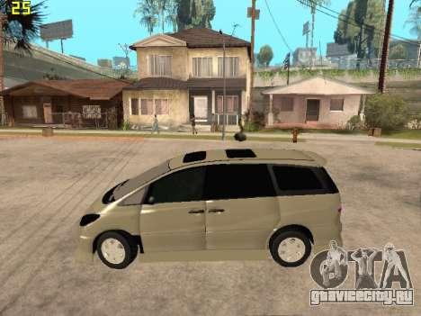 Toyota Estima Altemiss 2wd для GTA San Andreas вид слева