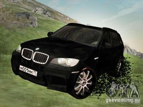 BMW X5M E70 2010 для GTA San Andreas вид изнутри