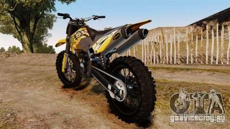 KTM 450 EXC Monster Energy для GTA 4 вид справа