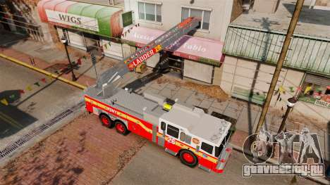 Ferrara 100 Aerial Ladder FDNY [working ladder] для GTA 4 вид изнутри