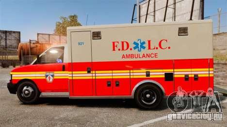 Brute Speedo FDLC Ambulance [ELS] для GTA 4 вид слева