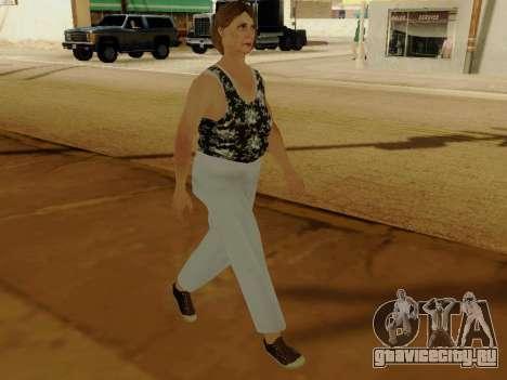 Пожилая женщина v.2 для GTA San Andreas четвёртый скриншот