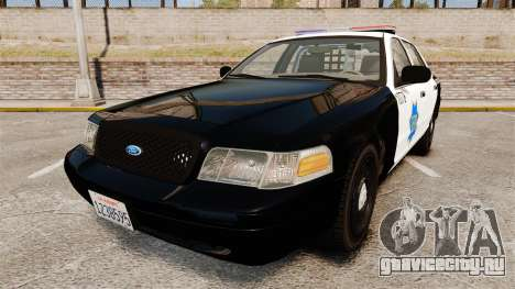 Ford Crown Victoria San Francisco Police [ELS] для GTA 4