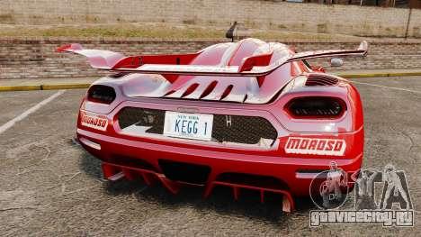 Koenigsegg One:1 для GTA 4 вид сзади слева