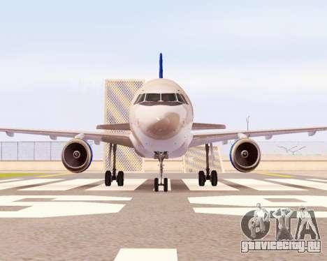 Airbus A320-200 Донбассаэро для GTA San Andreas вид сзади