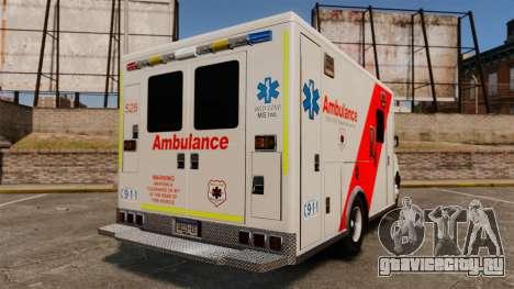 Brute Speedo RLMS Ambulance [ELS] для GTA 4 вид сзади слева