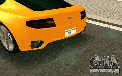 GTA V Dewbauchee Rapid GT Coupe для GTA San Andreas вид сзади слева