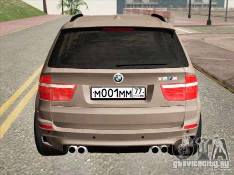 BMW X5M E70 2010 для GTA San Andreas вид сзади