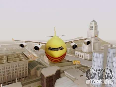 Airbus A340-600F DHL Buffalo для GTA San Andreas вид изнутри