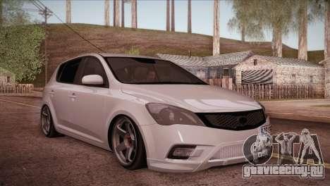 Kia Ceed 2011 для GTA San Andreas вид справа
