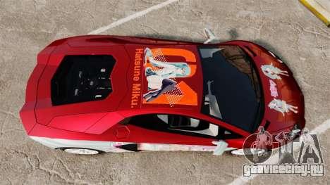 Lamborghini Aventador LP700-4 2012 [EPM] Miku 2 для GTA 4 вид справа