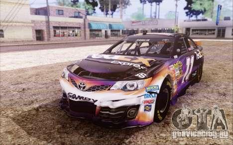 Toyota Camry NASCAR Sprint Cup 2013 для GTA San Andreas вид изнутри