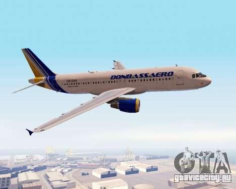 Airbus A320-200 Донбассаэро для GTA San Andreas вид сбоку