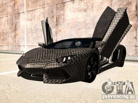 Lamborghini Aventador LP700-4 2013 для GTA San Andreas вид сзади
