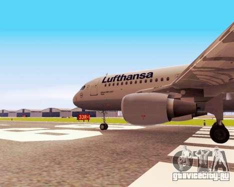 Airbus A320-200 Lufthansa для GTA San Andreas вид справа