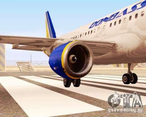 Airbus A320-200 Донбассаэро для GTA San Andreas вид справа