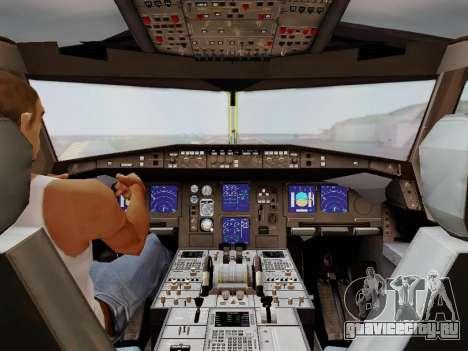 Airbus A340-600F DHL Buffalo для GTA San Andreas вид снизу