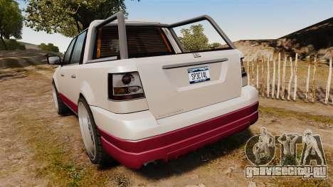 Dundreary Landstalker 4x4 для GTA 4 вид сзади слева