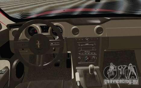 Ford Mustang GT 2005 для GTA San Andreas вид справа