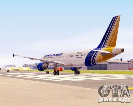 Airbus A320-200 Донбассаэро для GTA San Andreas вид сзади слева