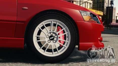 Mitsubishi Lancer Evolution IX для GTA 4 вид слева