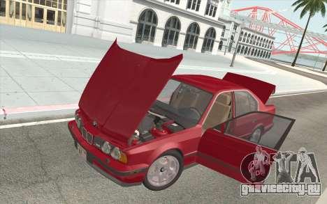 BMW M5 E34 1991 NA-spec для GTA San Andreas вид сверху