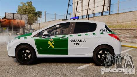 Peugeot 308 GTi 2011 Guardia Civil для GTA 4 вид слева
