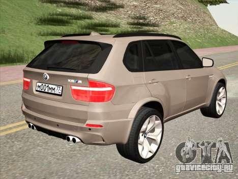 BMW X5M E70 2010 для GTA San Andreas вид справа