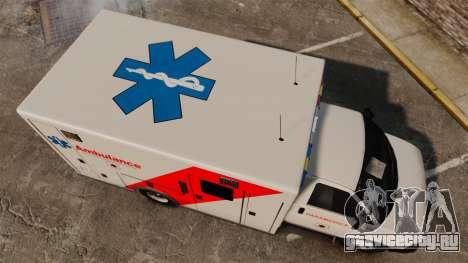 Brute Speedo RLMS Ambulance [ELS] для GTA 4 вид справа