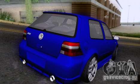 Volkswagen Golf R32 для GTA San Andreas вид изнутри