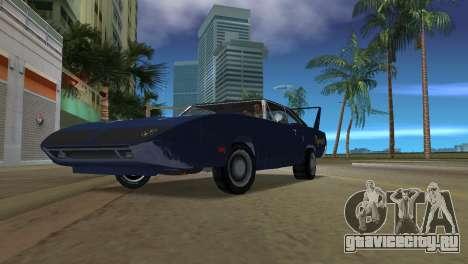 Plymouth Superbird для GTA Vice City вид сзади слева