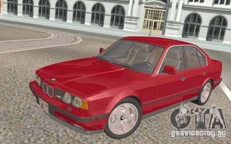 BMW M5 E34 1991 NA-spec для GTA San Andreas салон