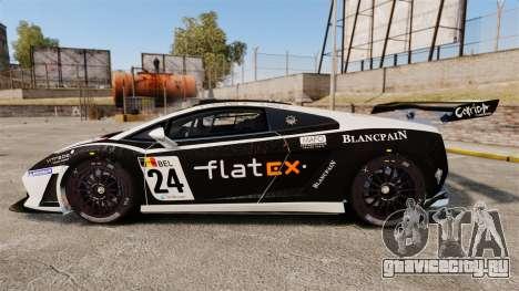Lamborghini Gallardo LP560-4 GT3 2010 Flatex для GTA 4 вид слева