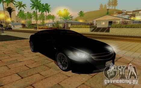Benefactor Schwarzer для GTA San Andreas вид сзади слева