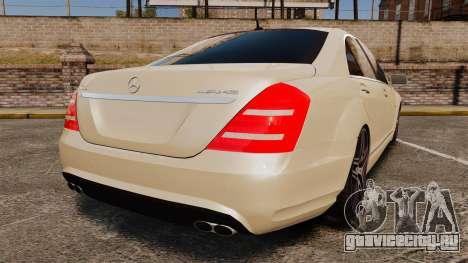 Mercedes-Benz S65 (W221) AMG для GTA 4 вид сзади слева